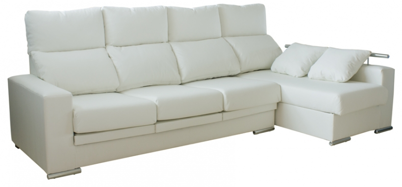 1 luxury sofa chaise longue en sevilla sectional sofas for Sofa blanco barato