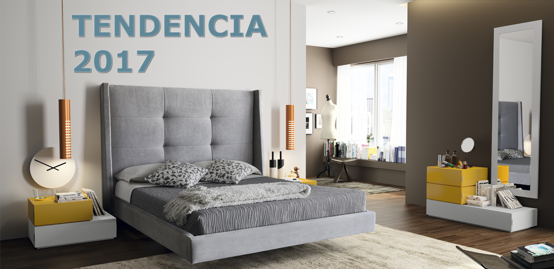 Tendencias en decoraci n 2017 muebles s rria tienda de - Ultimas tendencias en decoracion de dormitorios de matrimonio ...